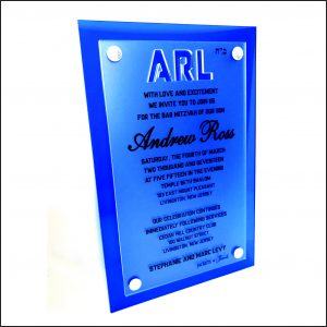 acrylic wedding invitation