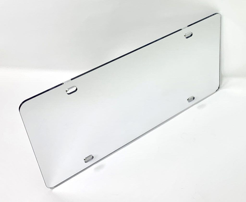 Mirrored Acrylic Auto Tag Blanks